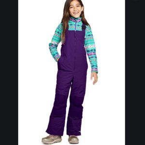 Kids Purple Lands End Squall Snow Pants Overall